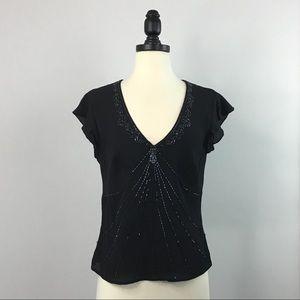 Janeville Beaded Silk Top
